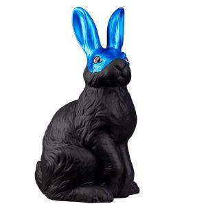 Керамический черный Заяц в голубой маске