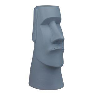 Керамический истукан Моаи Серый матовый