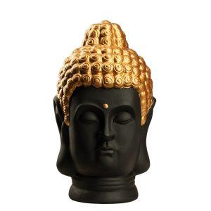 Фигурка Голова Будды черная с золотом