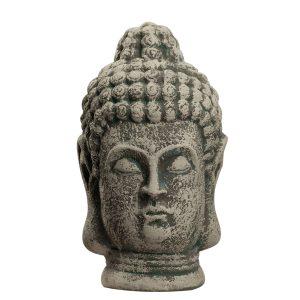 Статуэтка Голова Будды под старый серый камень