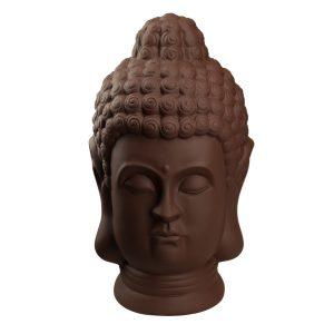 Статуетка Голова Будди темно коричнева матова