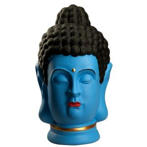 Статуэтка Голова Будды синий рисованный