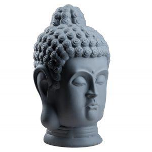 Статуетка Голова Будди сіра матова