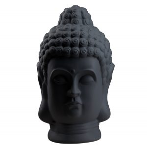 Статуетка Голова Будди чорна матова