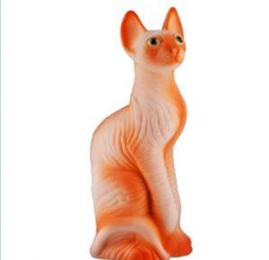 Керамическая копилка кот Сфинкс персиковый флок